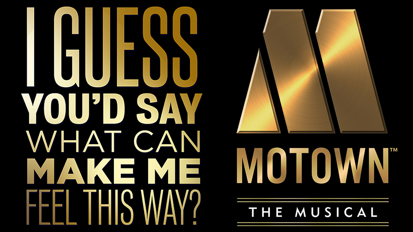 The motown logo with song lyrics