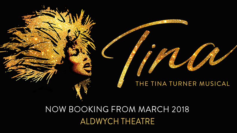 Tina Turners face in gold glitter